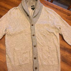 Shawl collar cardigan sweater